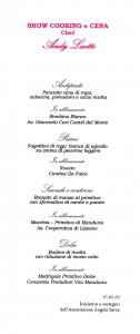 menu scarpetta 23 novembre