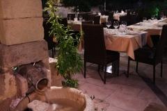 La fontana del ristorante